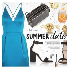 """""""Summer Date"""" by totwoo ❤ liked on Polyvore featuring Topshop, Gianvito Rossi, Valentino and Bobbi Brown Cosmetics"""