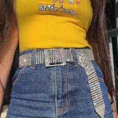 b783a162 Crystal Belt 90s Fashion, Fashion Trends, Fashion Outfits, Womens Fashion,  Rave Outfits