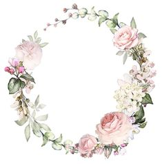 Vintage flowers frame decoupage New ideas Motif Floral, Floral Border, Floral Crown, Flower Backgrounds, Flower Wallpaper, Wreath Watercolor, Watercolor Flowers, Watercolor Paintings, Flower Frame
