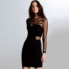 Are you looking for a #sexydress for party or club? This dress, featuring looming mesh splicing design, will perfectly meet your expectation! It will show your perfect figure and add alluring glamour to your looks. Just come and have one.