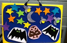 On a Summer Night Activity - Use the tune 'Mary Had a Little Lamb'. Also use the song with On aSpooky Night Halloween Felt Story/Song
