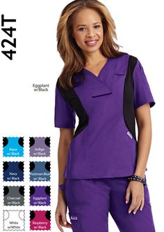 - Active Flexi V-Neck Scrub Top Fashionable, flexible, professional. This top keeps you looking good and feeling great all shift long. Features black flexi stretch side panels, two lower pockets and one shoulder pen pocket Medical Scrubs, Medical Assistant, Side Panels, Scrub Tops, Caregiver, Peplum Dress, Long Sleeve Tees, One Shoulder, V Neck