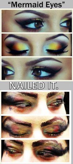 Mermaid Eyes: Nailed it!