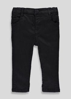 927f77ca7249f4 Black Stretch Skinny Jeans (3mths-5yrs) – Black – Matalan Matalan, Bermuda