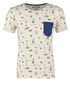 TOM TAILOR DENIM Camiseta print - soft beige solid - Zalando.es