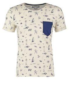 TOM TAILOR DENIM Camiseta print - soft beige solid - Zalando.es