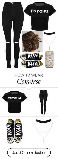 """""""Need Coffee"""" by lucy-wolf on Polyvore featuring Charlotte Russe, Topshop and Converse"""