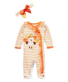 8cd7138b5f4a Crème Turkey Footie   Headband Set - Infant