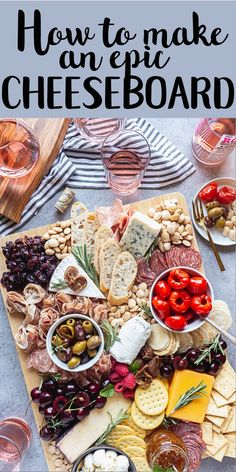 How to make a charcuterie board - Charcuterie platter - Cheese Cheese Platter Board, Charcuterie And Cheese Board, Charcuterie Platter, Charcuterie Ideas, Cheese Boards, Cheese Platter How To Make A, Cheese Board Display, Antipasti Board, Holiday Appetizers