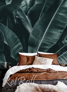 It's a little hot outside… This big leaves will protect you from the heat ;) Summer bedroom ispisation, check it out. Self Adhesive Wallpaper, Of Wallpaper, Nature Wallpaper, Summer Bedroom, Big Leaves, Green Leaves, Smooth Walls, Montage, Check It Out