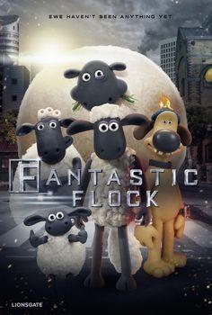 Shaun the Sheep Fantastic Four Parody Poster