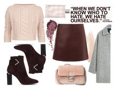 """""""oxblood set"""" by stylecious ❤ liked on Polyvore featuring Topshop, T By Alexander Wang, Weekend Max Mara, Nicholas Kirkwood, Fendi, MANGO, Burberry, oxblood and polyvoreeditorial"""