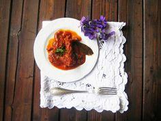 LAS RECETAS DE MAMA ROSA: Pollo de corral con tomates, hierbas y setas