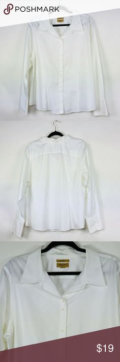 50ae3752c5d Gold Label Investments Long Sleeve White Non-Iron Gold Label Investments  Womens Top 2X Long