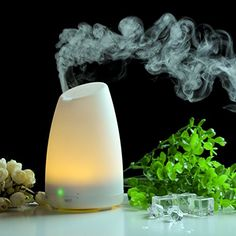 Efrank Ultrasonic Aromatherapy Oil Diffuser Cool Mist With Color LED Lights and Waterless Auto Shut-off Fuction for Home, Yoga, Office, Spa, Bedroom, Baby Room * Check out this great product.