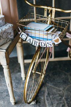 vintage bicycle wedding card box