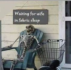 #Skeleton #waiting for #wife 2 #shop #LetsGetWordy