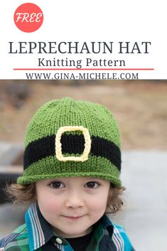 FREE knitting pattern for this kid's Leprechaun Hat! #knitting #knitting pattern