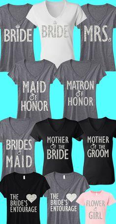 Pick any 6 BRIDAL/WEDDING #Wedding & #Bridal #Shirts
