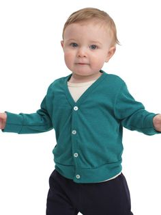 basic baby cardi from American Apparel.  Cardi's are essential kid-wear...not just for grownups