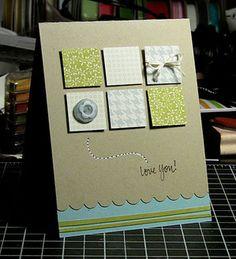 """""""Love you"""" con quadratini di carta"""