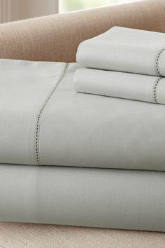 400 Thread Count Egyptian Cotton Single Hole Hem Sheet Set - Silver