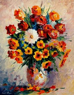 Breathtaking Flower Paintings by Leonid Afremov - AmO Images - AmO Images