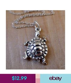 Climbing Turtle Charm Necklace 925 Sterling Silver Turtles Tortoise Pet Gift NEW Turtle Necklace, Gold Ribbons, Sterling Silver Jewelry, Silver Ring, Charmed, Pendant Necklace, Climbing, Gifts, Tortoise