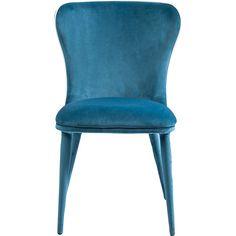 meble - krzesła-Krzesło Santorini niebieskie biała lamówka