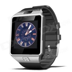 DZ09 1.56 TFT LCD Screen GSM Smart Watch Phone w/ Bluetooth / Quad-band / GPS / FM - Black