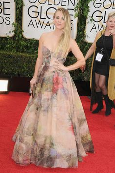 Kaley Cuoco at the Golden Globes.
