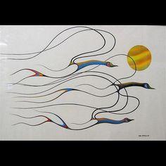 Isaac Bignell Artwork for Sale at Online Auction Native Art, Native American Art, Art Inuit, Line Artwork, Haida Art, Airbrush Art, Bird Illustration, Indigenous Art, Canadian Artists