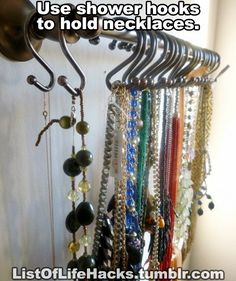 how to organize necklaces (20 life hacks)