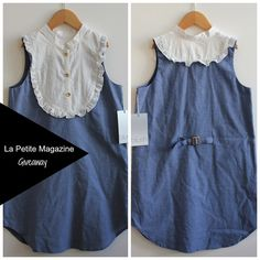 La Petite Magazine Giveaway, Win this adorable bib front dress by Us Angels!