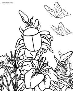 Busy Bee Coloring Page For Kids