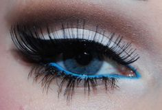 blue and black eyeliner