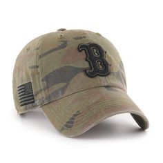 f33ca86eaaac1 Boston Red Sox  47 Movement Camo B Front logo with the American flag on the