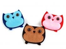 Plush Sew-on Owl Applique