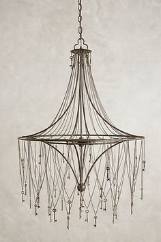 skeleton key chandelier, anthro.