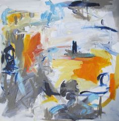 """""""Boxed In """" is an abstract expressionist style painting. It is a 20 x 20  oil on 1 1/2 inch thick gallery wrapped canvas."""