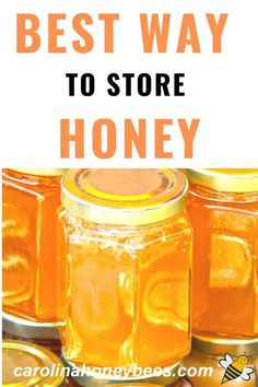 What is the best way to store honey?  Should honey go in the refrigerator? NO, please.    #carolinahoneybees #honey #rawhoney Eating Raw, Healthy Eating, Cooking With Honey, My Honey, Honey Recipes, Food To Make, Mason Jars, Bee, Mugs