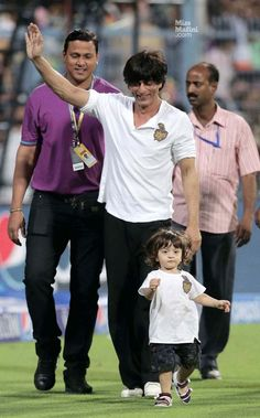 Shahrukh with Abram