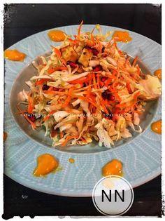 Σαλάτα λάχανο με ρόδι και γλυκιά σως πορτοκαλιού με κουρκουμά! Cabbage, Vegetables, Ethnic Recipes, Food, Essen, Cabbages, Vegetable Recipes, Meals, Yemek