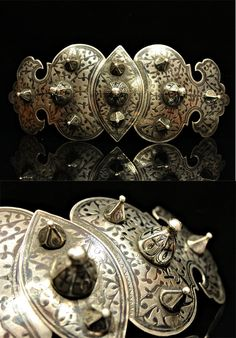 Antique silver niello Caucasian belt buckle | 2,500$
