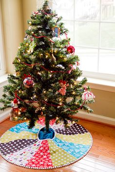 We will have our FIRST Christmas tree this year, I think I might just make us a tree skirt!