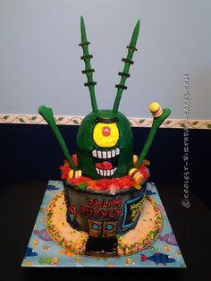 Coolest 3D Plankton Cake... Coolest Birthday Cake Ideas