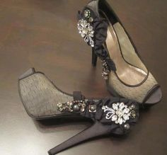 The platform is just a little heavy for my taste, but I love the unusual fabric and pretty, pretty embellishment.