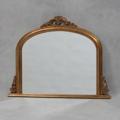 Gold Entrata Overmantle Mirror 120 x Overmantle Mirror, Classic Gold, Gold Wood, Home Living Room, Oversized Mirror, Mirrors, Wall Mirror, Antiques, Frame