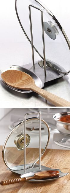 Lid & Spoon Rest // great kitchen idea! #product_design