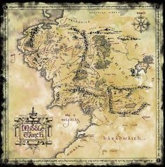 For all things Tolkien, Lord of The Rings, and The Hobbit . Middle Earth Map, The Middle, Globes Terrestres, Das Silmarillion, Lord Of The Rings Tattoo, Fantasy World Map, John Howe, O Hobbit, Lotr